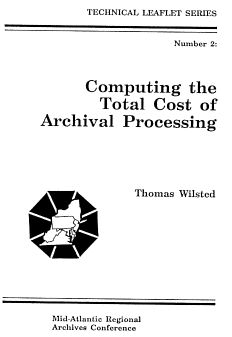 cover of Leaflet #2: Computing the Total Cost of Archival Processing, 1989